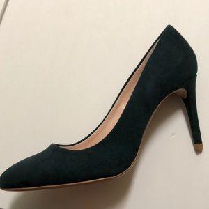 Zara Shoes - Zara Hunter Green Suede Pumps Sz 8 NWT